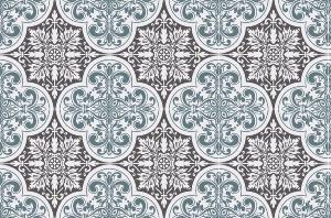 Cr dence adh sive carreaux de ciment s raphine bleu gris - Credence adhesive carreau ciment ...