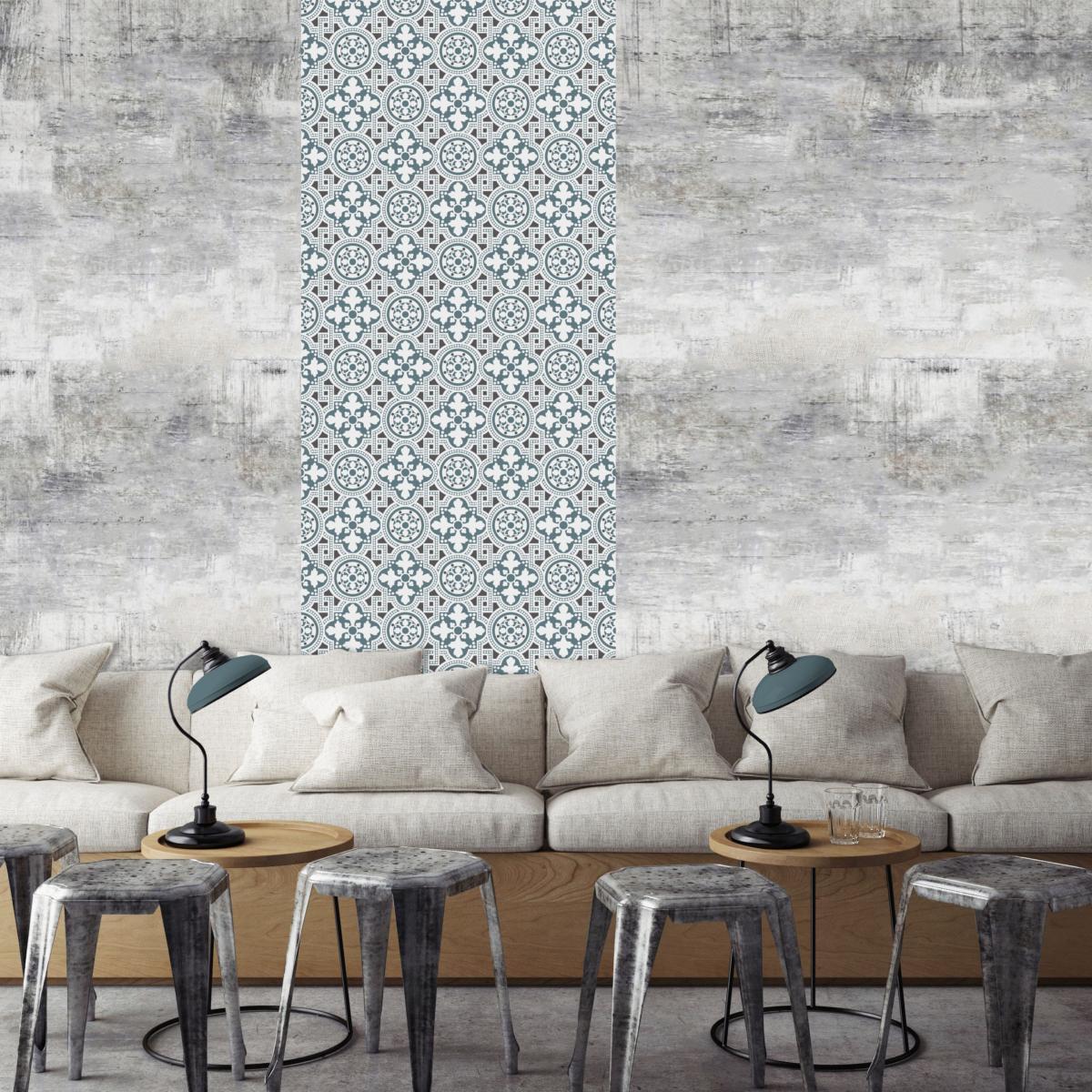 papier peint carreaux de ciment bertille. Black Bedroom Furniture Sets. Home Design Ideas