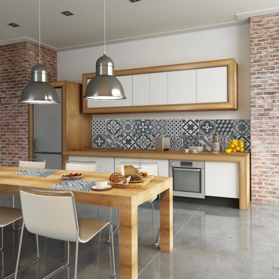 cr dence adh sive carreaux de ciment simone bleu. Black Bedroom Furniture Sets. Home Design Ideas