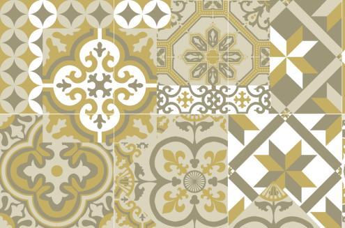 Soldes tapis vinyles carreaux de ciment cr dences stickers et contremarches - Credence adhesive carreau ciment ...
