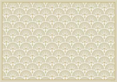 Set de table art d co jean beige chic for Set de table chic