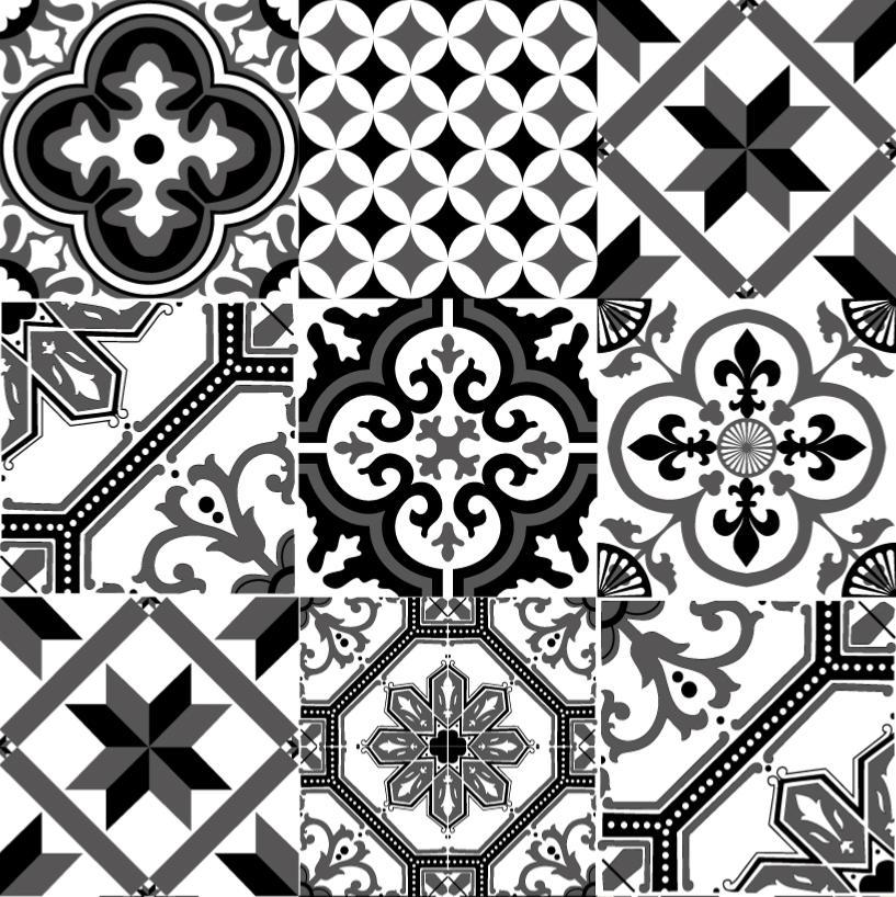 Papier Peint Carreaux De Ciment Ginette