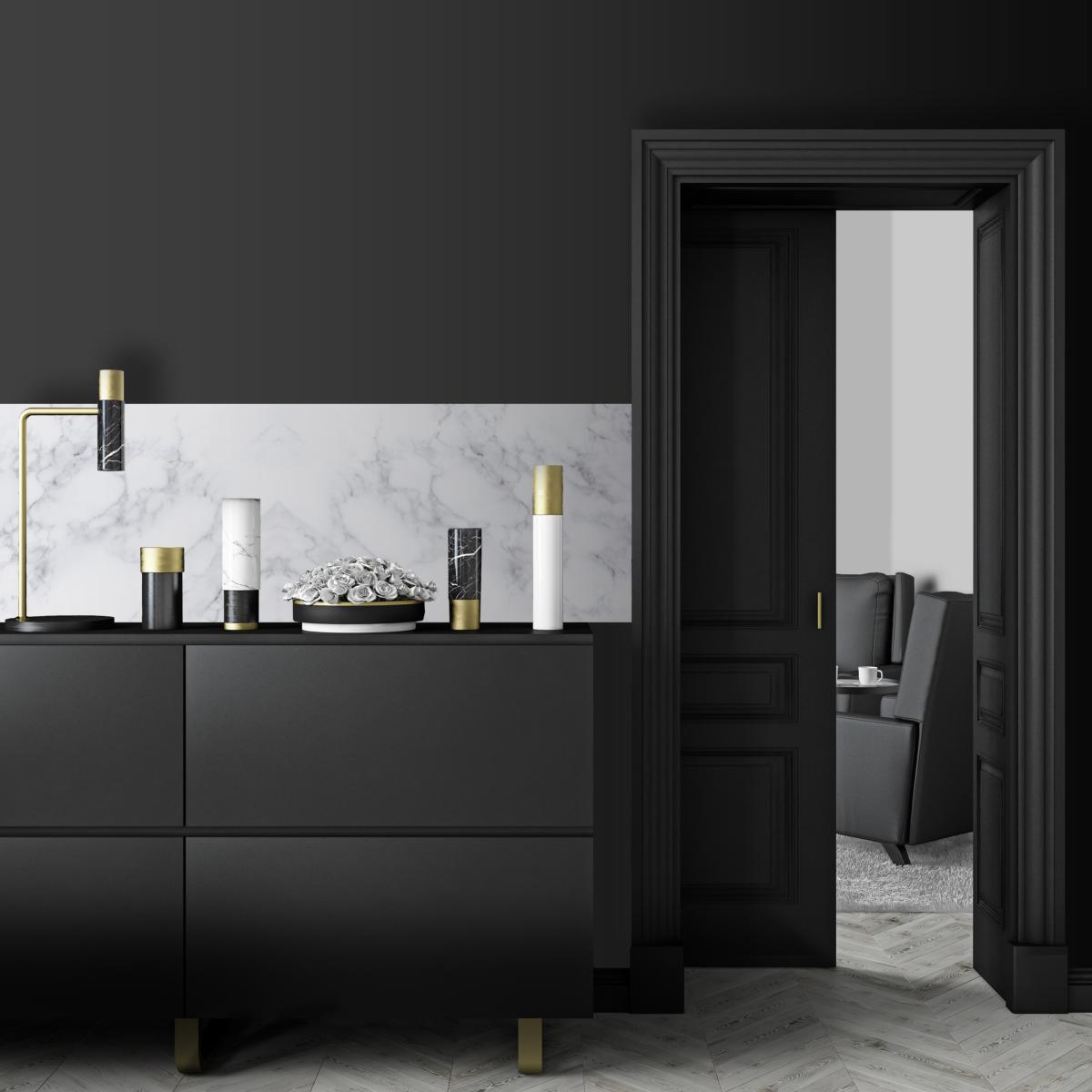 Cr dence adh sive effet de mati re marbre blanc for Effet miroir sur une photo
