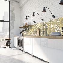 cr dence adh sive carreaux de ciment l on moutarde. Black Bedroom Furniture Sets. Home Design Ideas