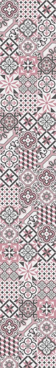 papier peint carreaux de ciment ginette rose l. Black Bedroom Furniture Sets. Home Design Ideas