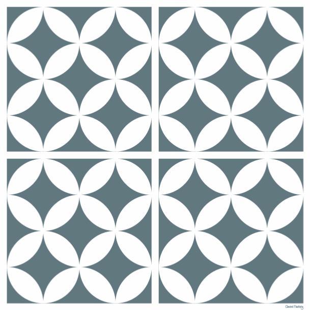 sticker carreaux de ciment louison bleu gris. Black Bedroom Furniture Sets. Home Design Ideas