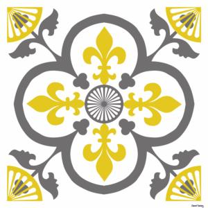 *Sticker Garance - Jaune Moutarde