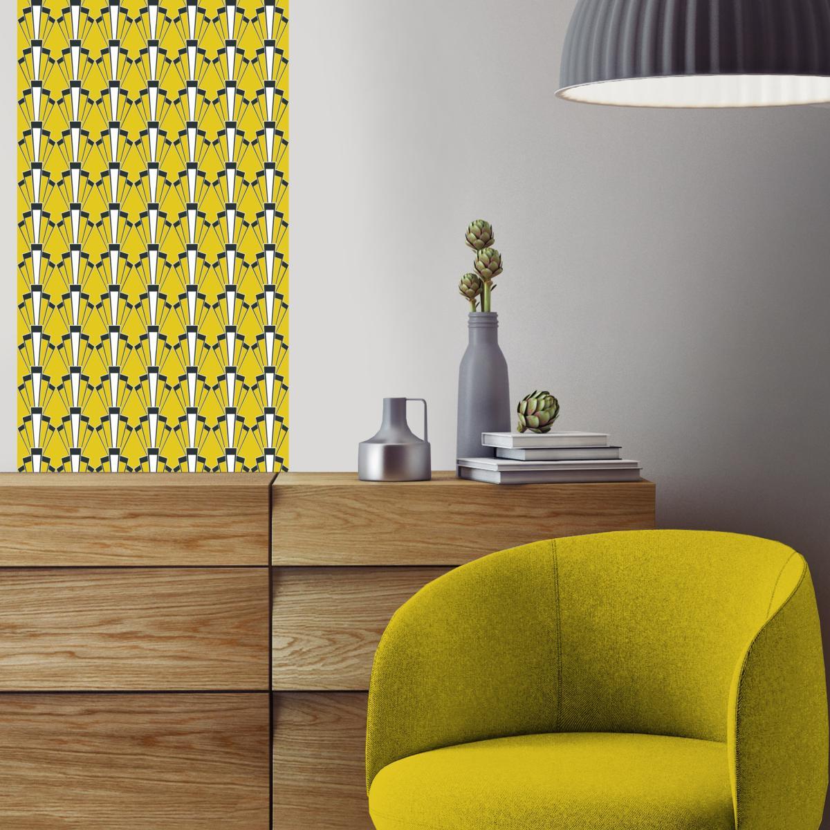 papier peint art d co georges. Black Bedroom Furniture Sets. Home Design Ideas