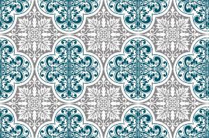 Cr dence adh sive carreaux de ciment s raphine bleu for Credence bleu canard