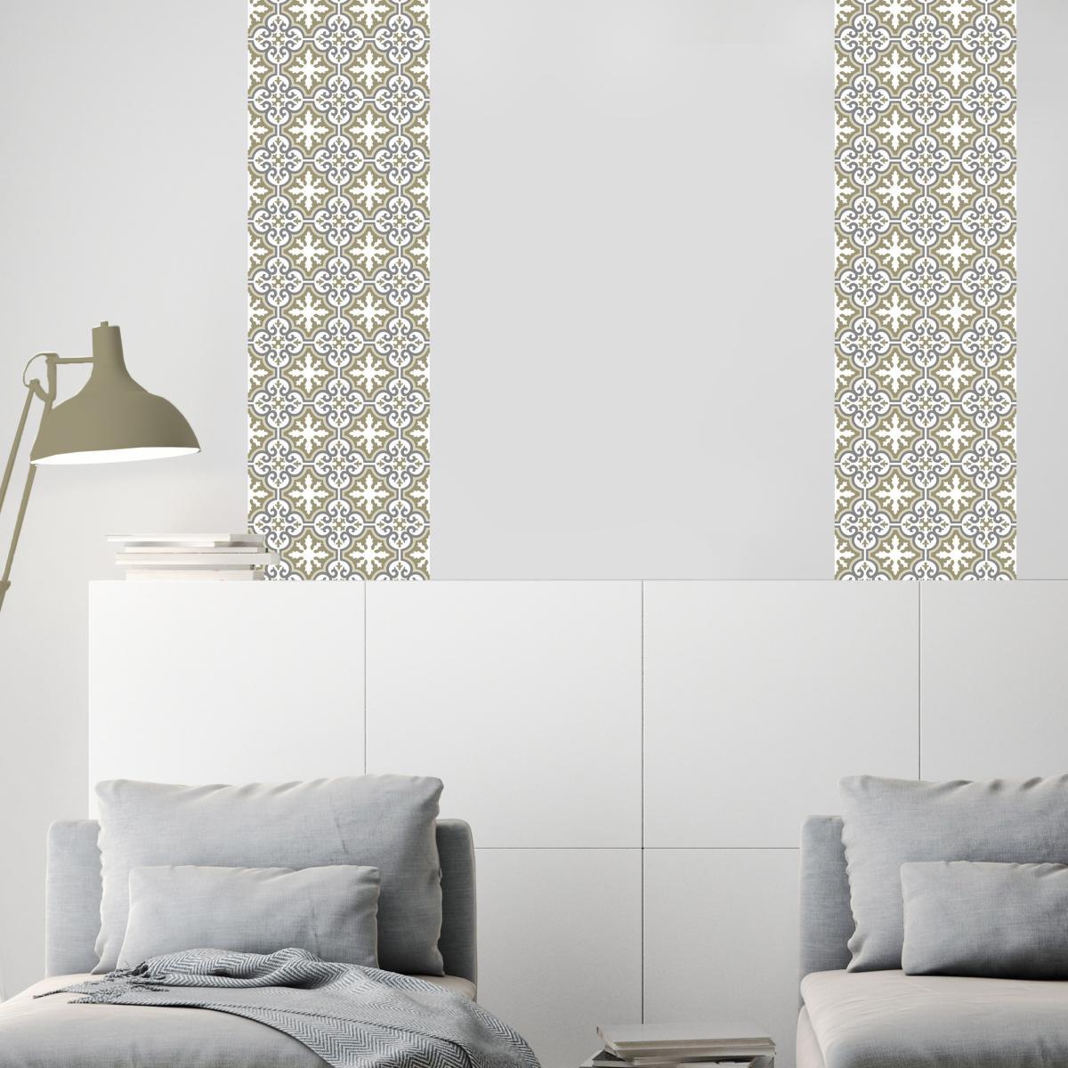 papier peint carreaux de ciment simone. Black Bedroom Furniture Sets. Home Design Ideas