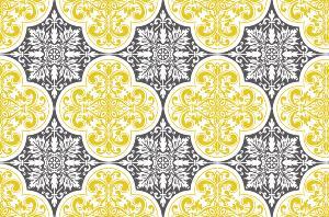 cr dence adh sive carreaux de ciment s raphine jaune moutarde. Black Bedroom Furniture Sets. Home Design Ideas