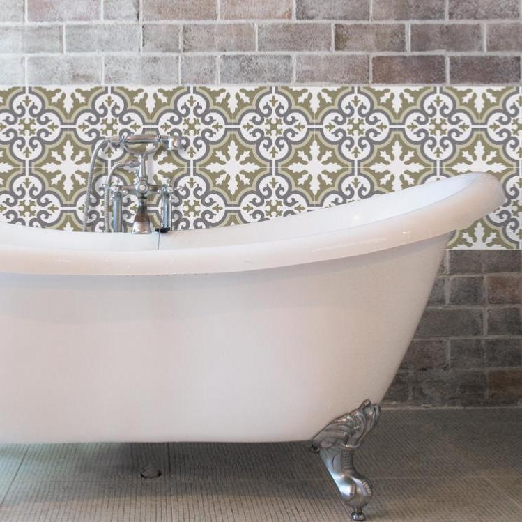 cr dence adh sive carreaux de ciment simone beige. Black Bedroom Furniture Sets. Home Design Ideas