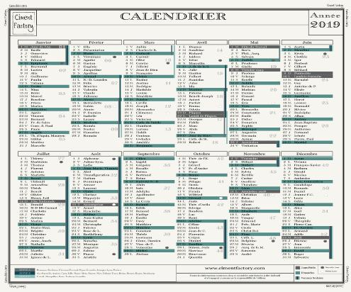 Calendrier 2019 - Vintage by Ciment Factory