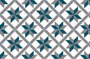 Cr dence adh sive carreaux de ciment marguerite bleu for Credence bleu canard