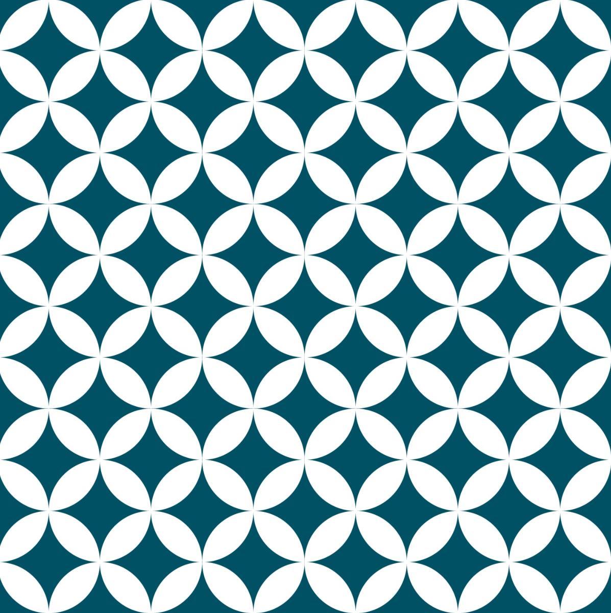 Papier Peint Carreaux De Ciment Louison Bleu Canard Le