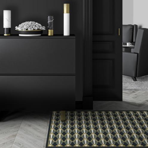 tapis vinyle art d co d co int rieure design tendance ciment factory. Black Bedroom Furniture Sets. Home Design Ideas