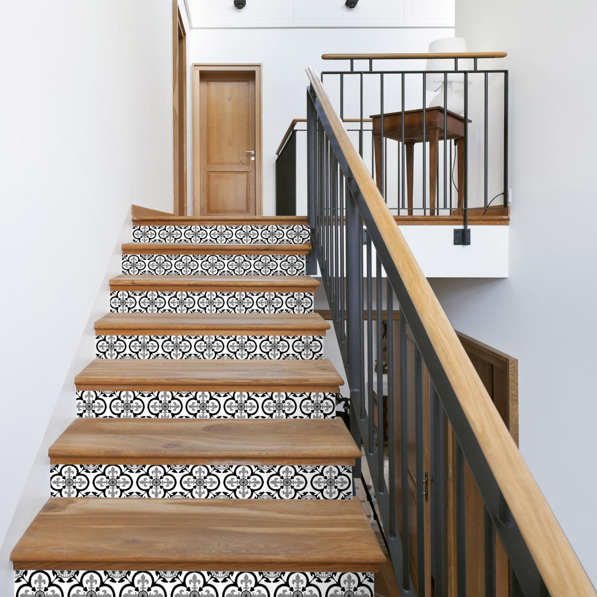 Ajouter Des Contre Marche Escalier contremarches carreaux de ciment garance - 15x100cm (x2)