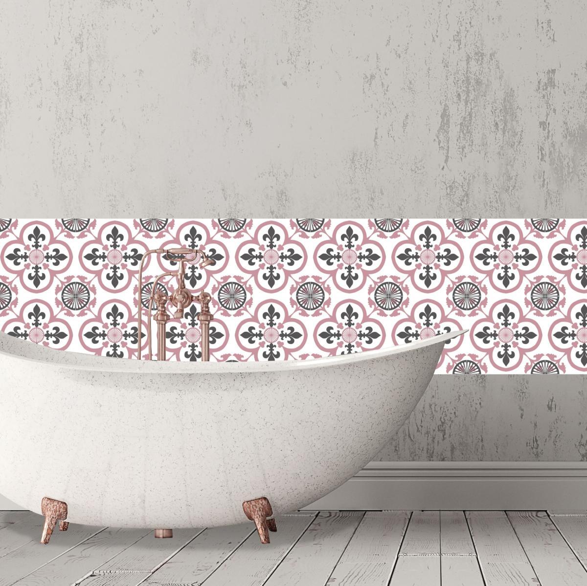 cr dence adh sive carreaux de ciment garance rose. Black Bedroom Furniture Sets. Home Design Ideas