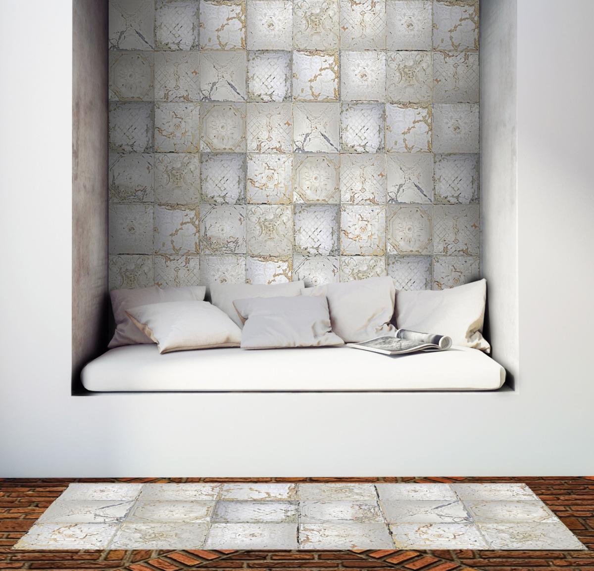 tapis vinyle plaques victoriennes. Black Bedroom Furniture Sets. Home Design Ideas