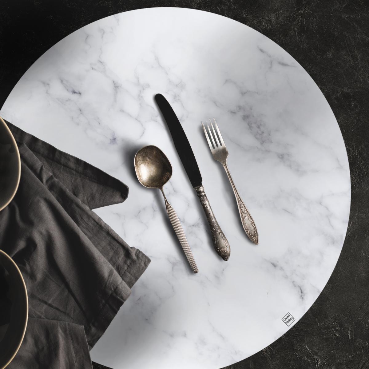 Set de table Effet de Matière - Marbre Blanc