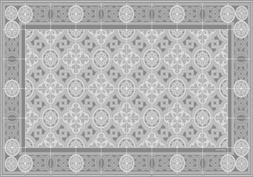 set de table carreaux de ciment bertille gris tourterelle. Black Bedroom Furniture Sets. Home Design Ideas