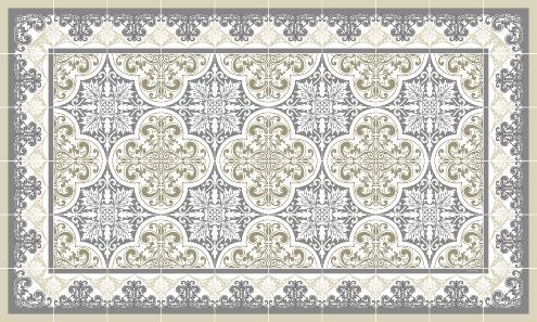 tapis vinyle carreaux de ciment. Black Bedroom Furniture Sets. Home Design Ideas