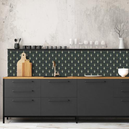 cr dence adh sive art d co ciment factory. Black Bedroom Furniture Sets. Home Design Ideas