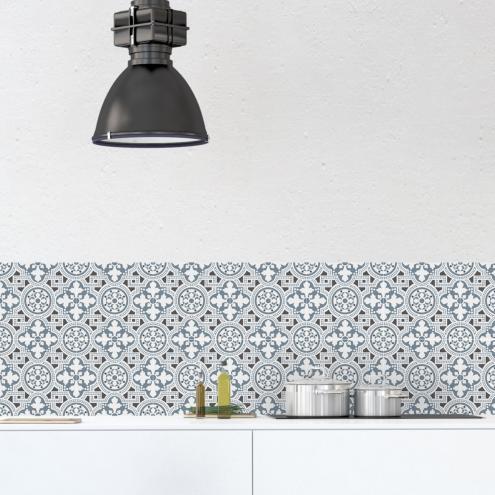 Credence Adhesive Imitation Carreaux De Ciment Deco Interieure