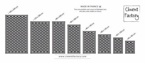 tapis vinyle carreaux de ciment garance beige. Black Bedroom Furniture Sets. Home Design Ideas