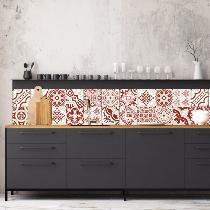 cr dence adh sive carreaux de ciment madeleine brique. Black Bedroom Furniture Sets. Home Design Ideas