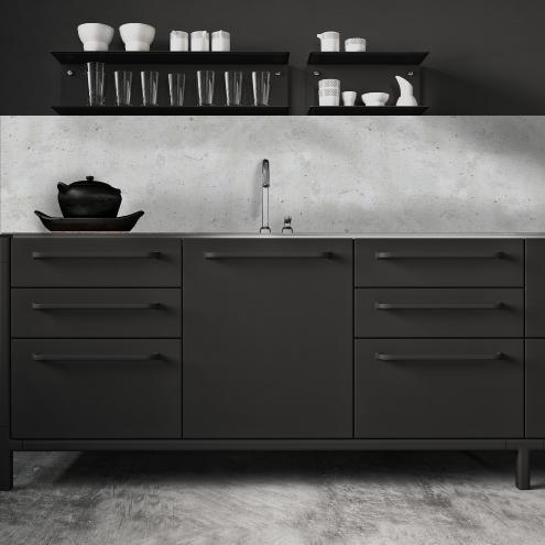cr dence adh sive effet de mati re b ton. Black Bedroom Furniture Sets. Home Design Ideas