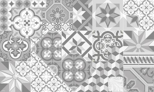 Carreaux de ciment patchwork maison design for Tapis cuisine imitation carreaux de ciment