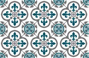cr dence adh sive carreaux de ciment garance bleu canard. Black Bedroom Furniture Sets. Home Design Ideas