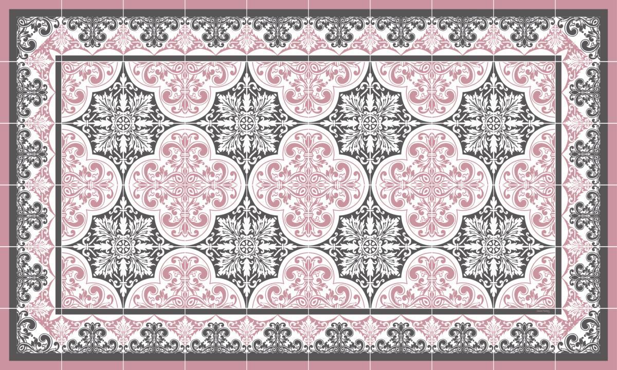 Tapis Effet Carreaux De Ciment tapis vinyle carreaux de ciment - séraphine