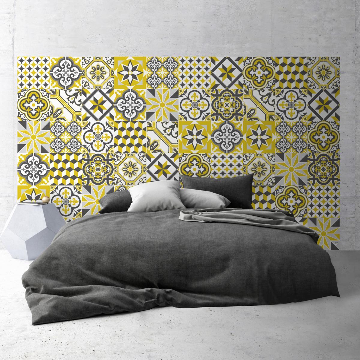Planche Pour Tete De Lit tête de lit adhésive carreaux de ciment - ginette